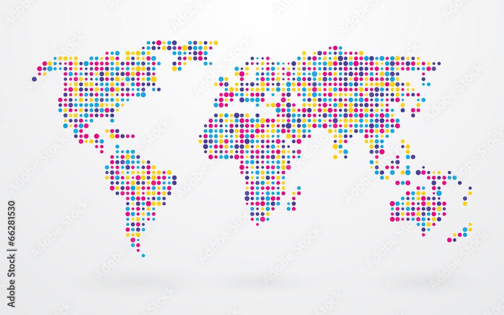 kropka wektor globalny - powiększenie