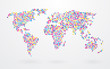 world map made ​​up of small colorful dots - 66281530