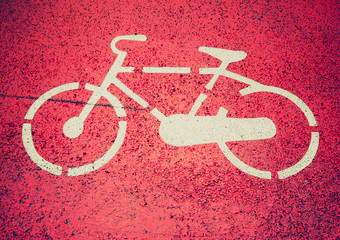 Retro look Bike sign
