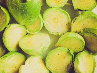 Retro look Brussel sprouts