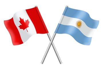 Flags : Canada and Argentina