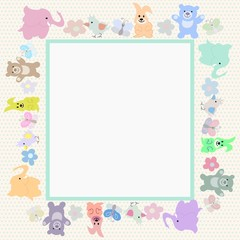 Baby animals greeting card