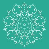 Symmetrical floral design - 66282192