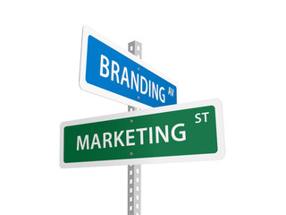 MARKETING & BRANDING street signs (planning strategy image)