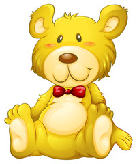 A huggable yellow bear