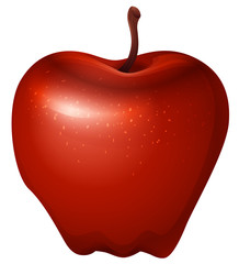 A red crunchy apple