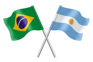 Flags : Brazil and Argentina