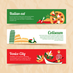 Italy banner set