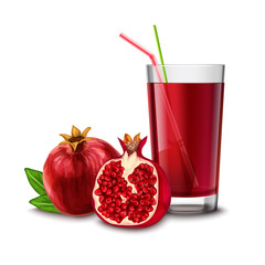 Pomegranate juice glass