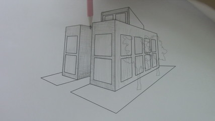 architect sketch of the house