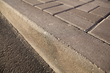 concrete sidewalk closeup