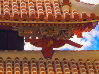 Stucco Roof of Shurei Gate, Okinawa