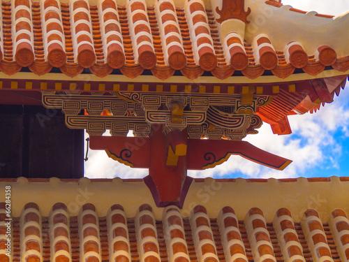 Stucco Roof of Shurei Gate, Okinawa
