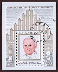Postage Stamp, Pope John Paul II, portrait