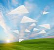flying paper planes sundown