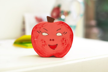 Red apple decoration in kindergarten