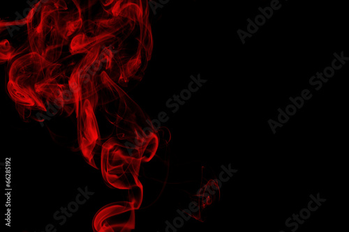 Red smoke on black background - 66285192