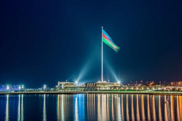 National Flag square in Baku Azerbaijan