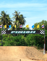 Finish line racing motocross