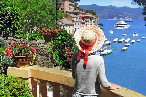 canvas print picture Urlaub in Portofino