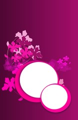 Pink background with two circle