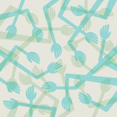 abstract random hand background