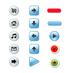 Set of stylish colored   buttons.