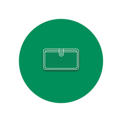 Line icon of purse. Purse on the white background