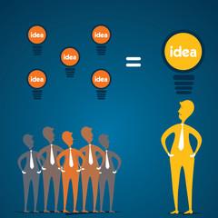 small idea make big idea with leader concept