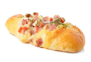 ham sausage bread with Mayonnaise