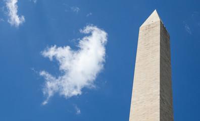 The big Obelisk with the blue sky background, Washington monumen