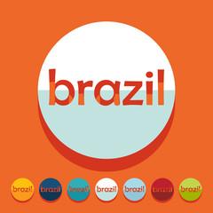 Flat design: brazil