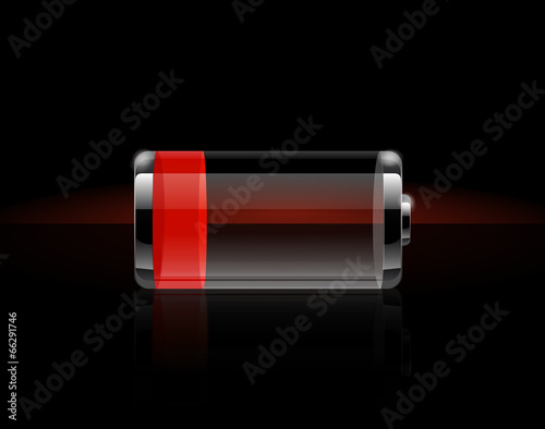 Glossy transparent battery icons - 66291746