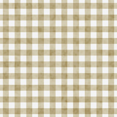 Beige Gingham Pattern Repeat Background