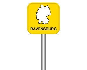 Ortseingangsschild: Ravensburg