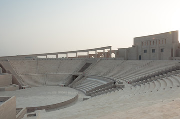 View of Amphitheater from seating area, Doha, Qatar