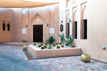 Arabian courtyard, vintage construction, Doha, Qatar