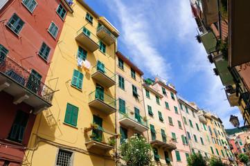 Village of Riomaggiore in Cinqueterre, Italy