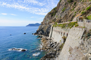 Landscape of the Italian Riviera in summer