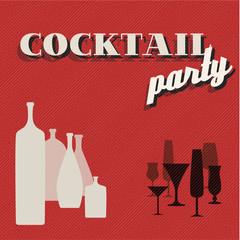 Retro Coctail party invitation card