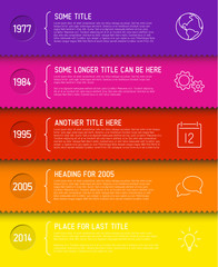 Fresh Infographic timeline report template
