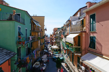 Village of Manarola in Cinqueterre, Italy