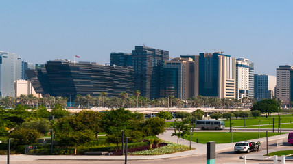 A view of Doha downtown, Doha, Qatar
