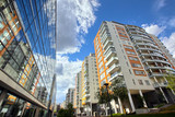 modern apartments with a blue sky - Fine Art prints
