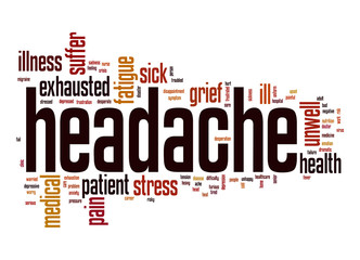 Headache word cloud