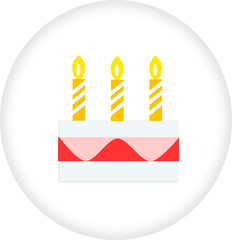 birthday cake sign icon