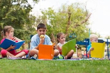 Preschoollers  outdoors