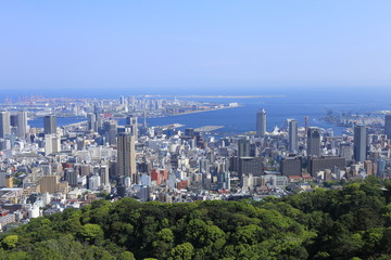 Kobe city view in Japan
