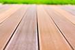 Wooden platform made from bangkirai wood.