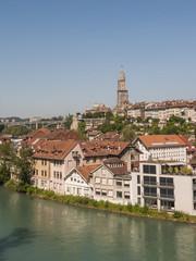 Bern, Altstadt, Münster, Kirche, Aare, Sommer, Schweiz